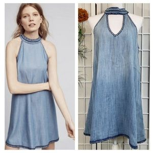 Cloth & Stone Chambray Halter Shift Dress